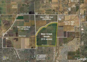 Bear Creek Aerial View, Stockton
