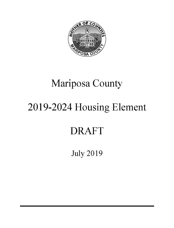 Housing Element 2019-2024, Mariposa County