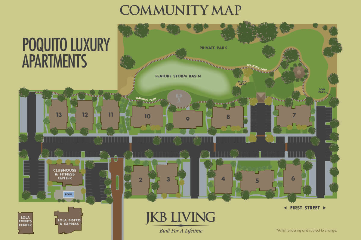 Poquito Lux Apartments Community Map